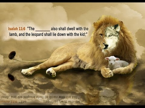 the wolf shall also dwell with the lamb