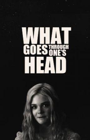 through one's head