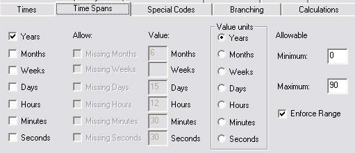 timespans