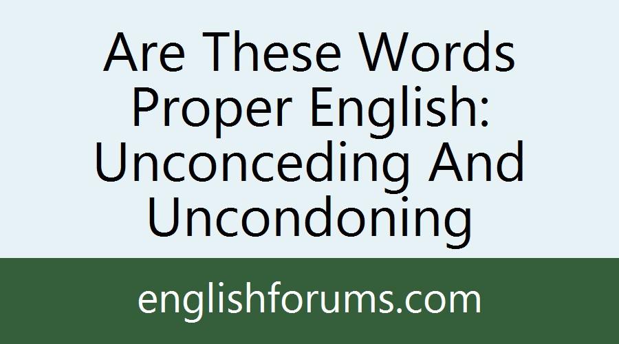 uncondoned