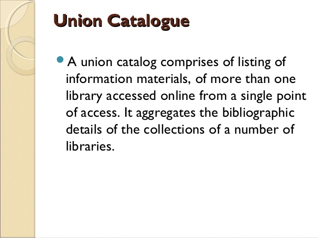 union catalogue