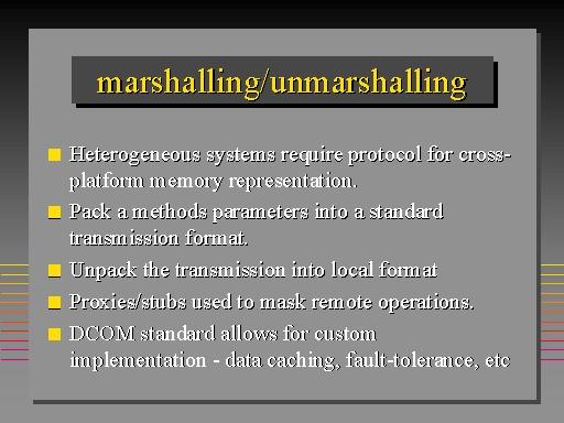 unmarshalled