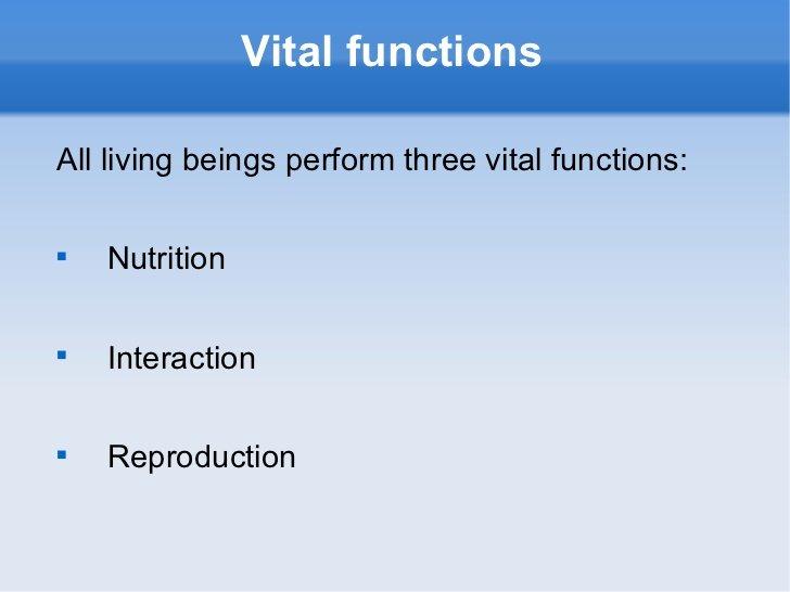 vital function