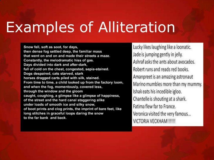 vocalic alliteration