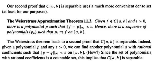 weierstrass approximation theorem