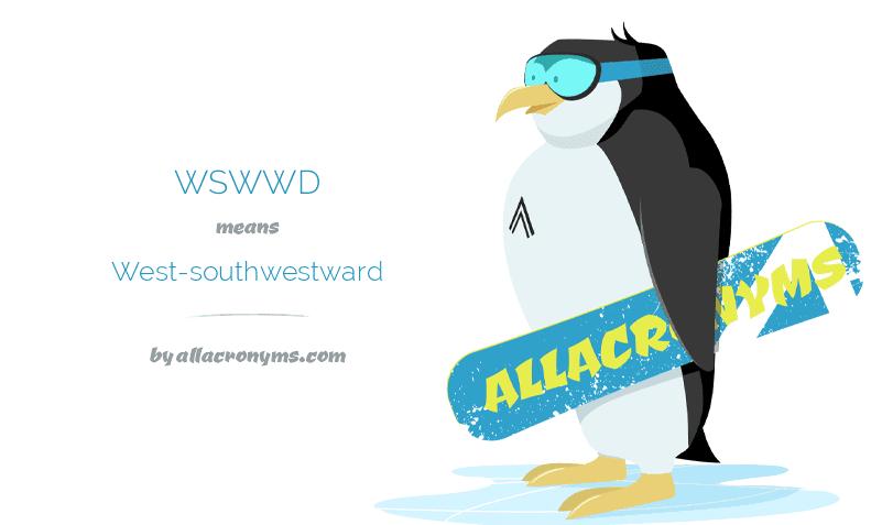 west-southwestward