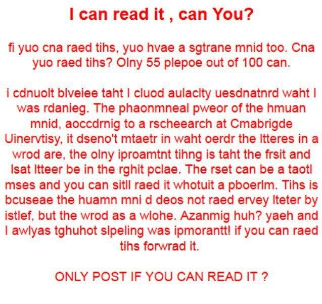 word blindness