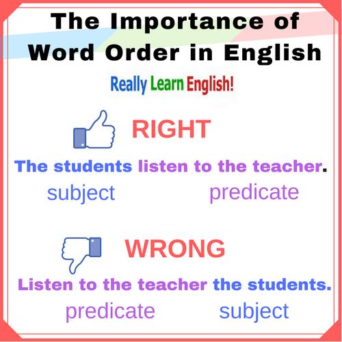 word order