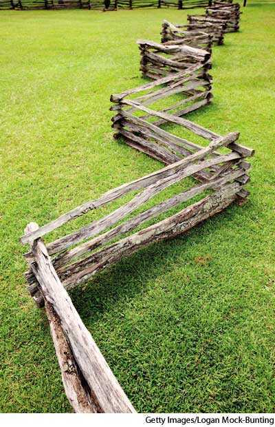 worm fence