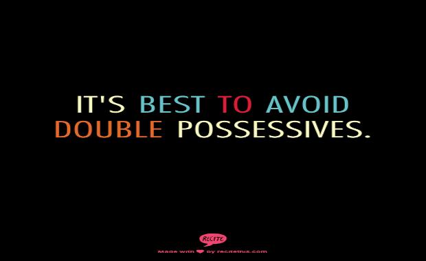 double possessive