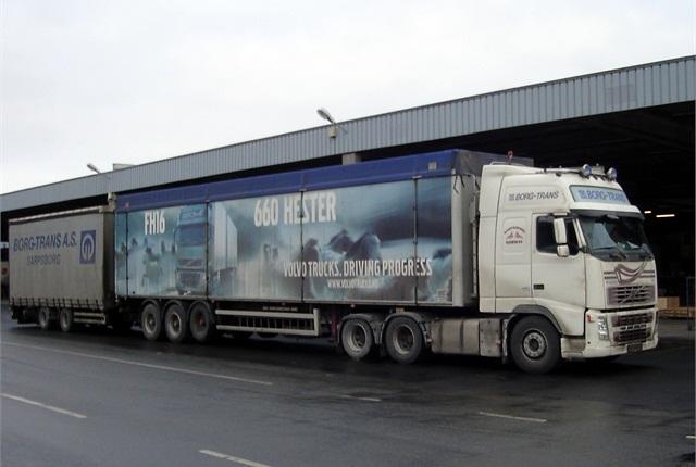 double-trailer truck