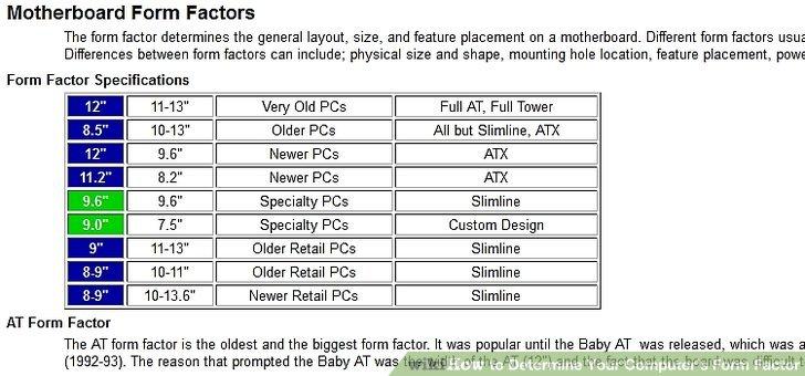 form factor