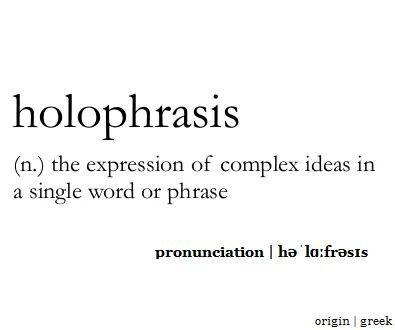 holophrasis