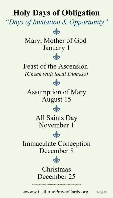 holy day of obligation