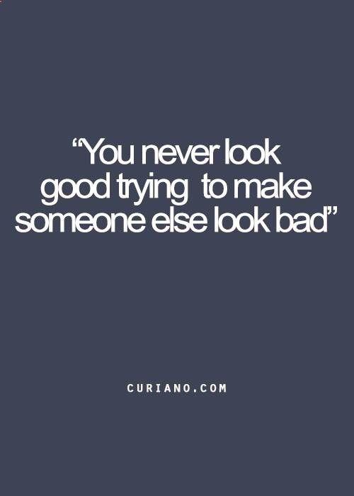 make someone look good