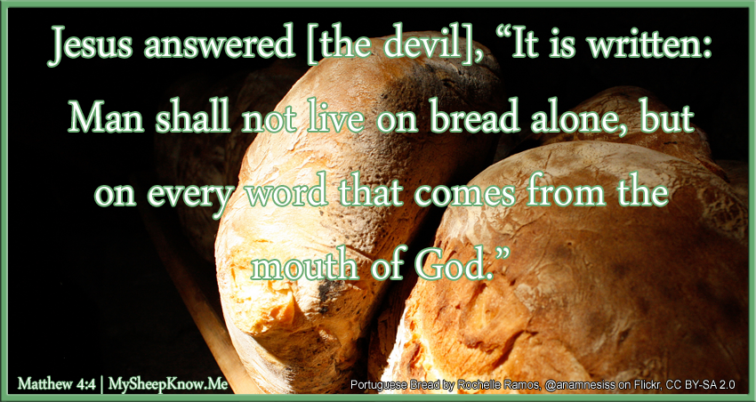 man shall not live by bread alone