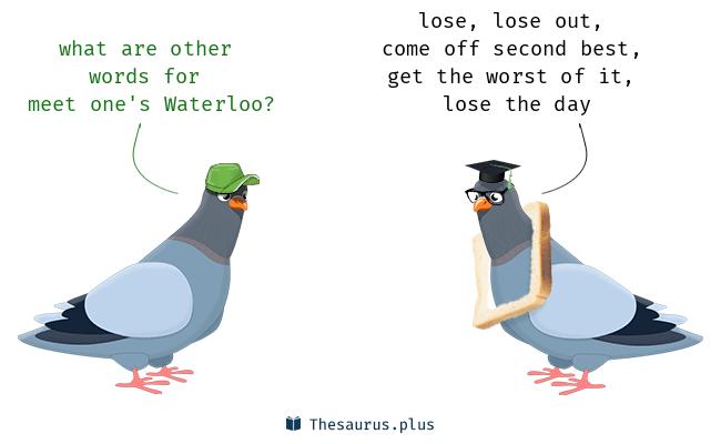meet one's waterloo
