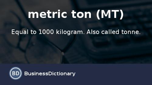 metric ton