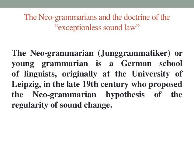 neogrammarian