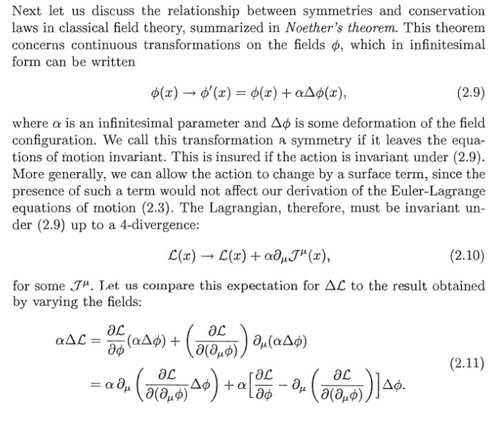 noether's theorem