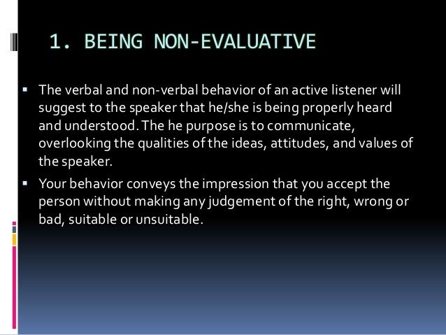 non-evaluative