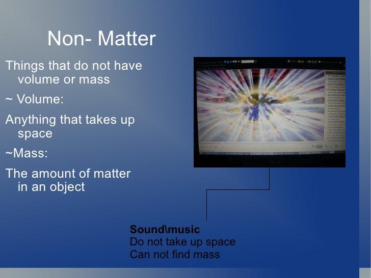 non-matter