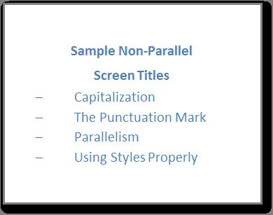 non-parallelism