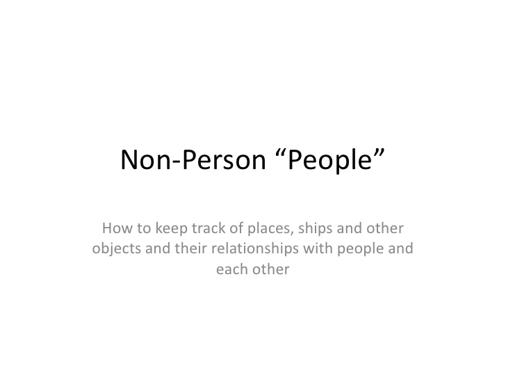 non-people