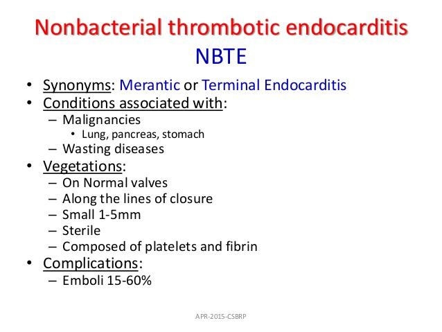nonbacterial verrucous endocarditis