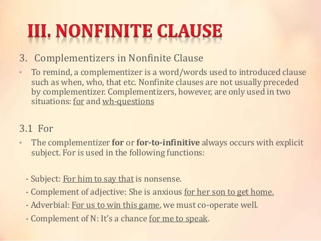 nonfinite clause