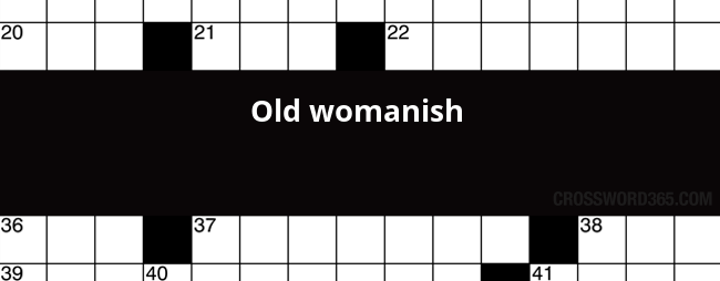 old-womanish