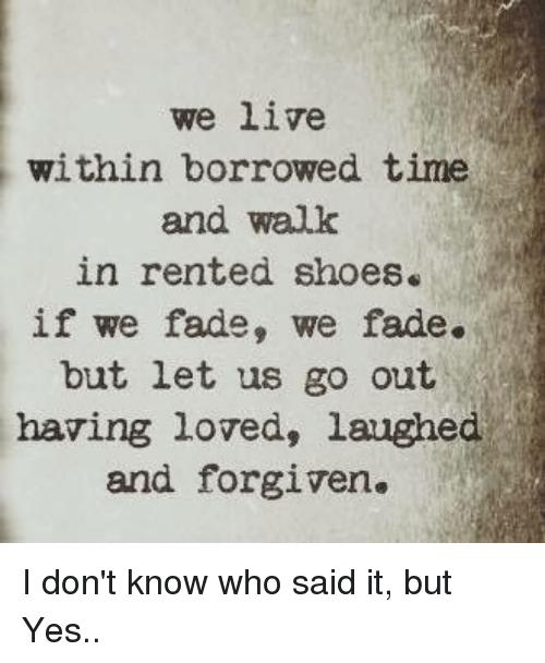on borrowed time, live
