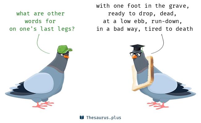on one's last legs