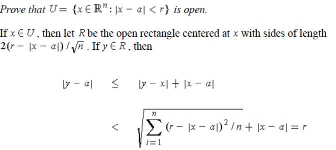 open interval