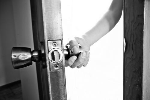 open the door to