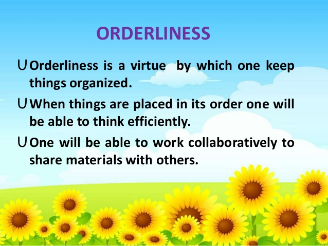 orderliness