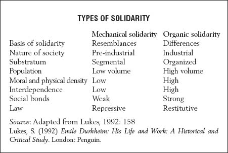 organic solidarity