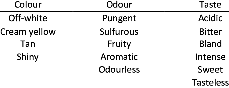 organoleptic