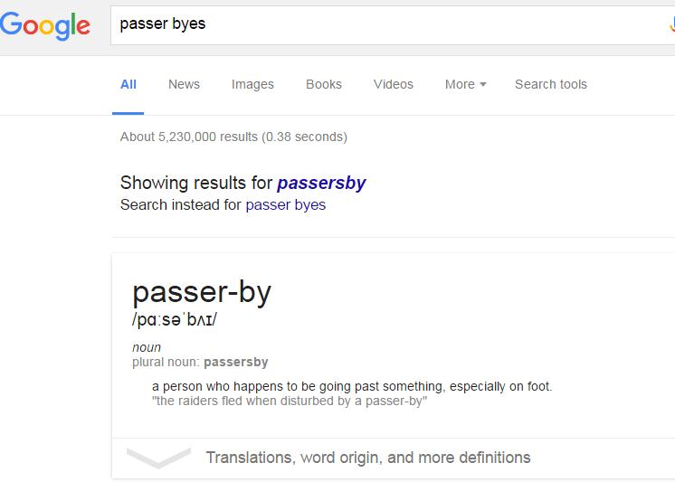passer-byes