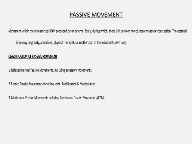 passive movement