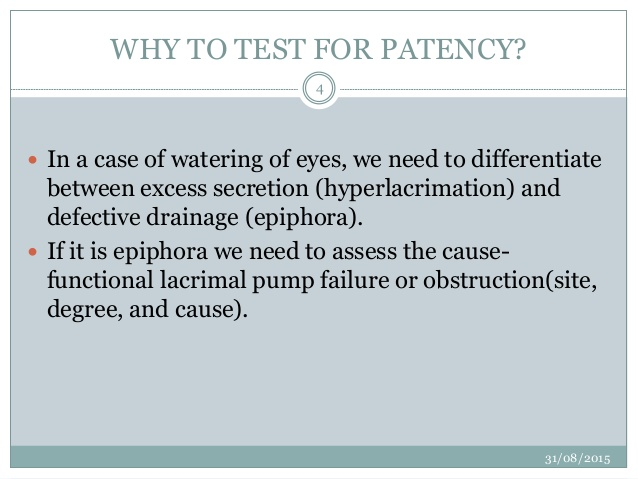 patency