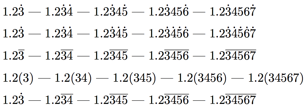 periodic decimal