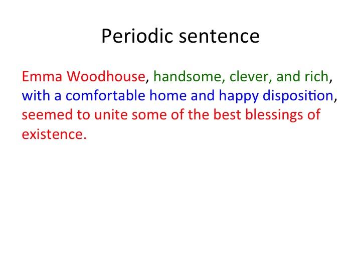 periodic sentence