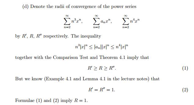 radius of convergence