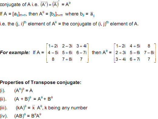 transposed conjugate