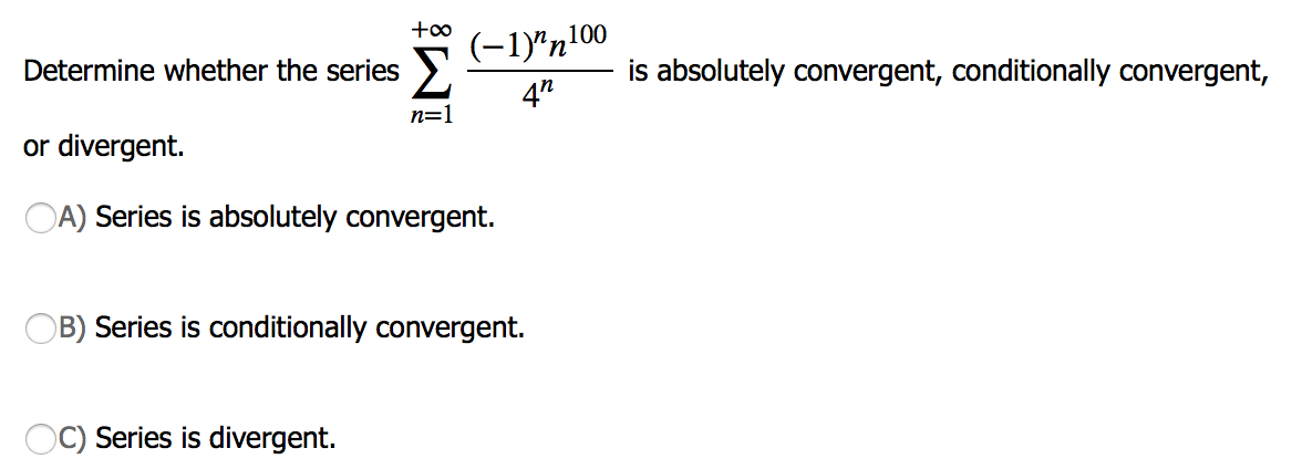 absolutely convergent