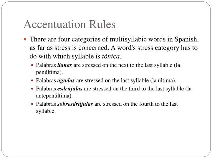 accentuation