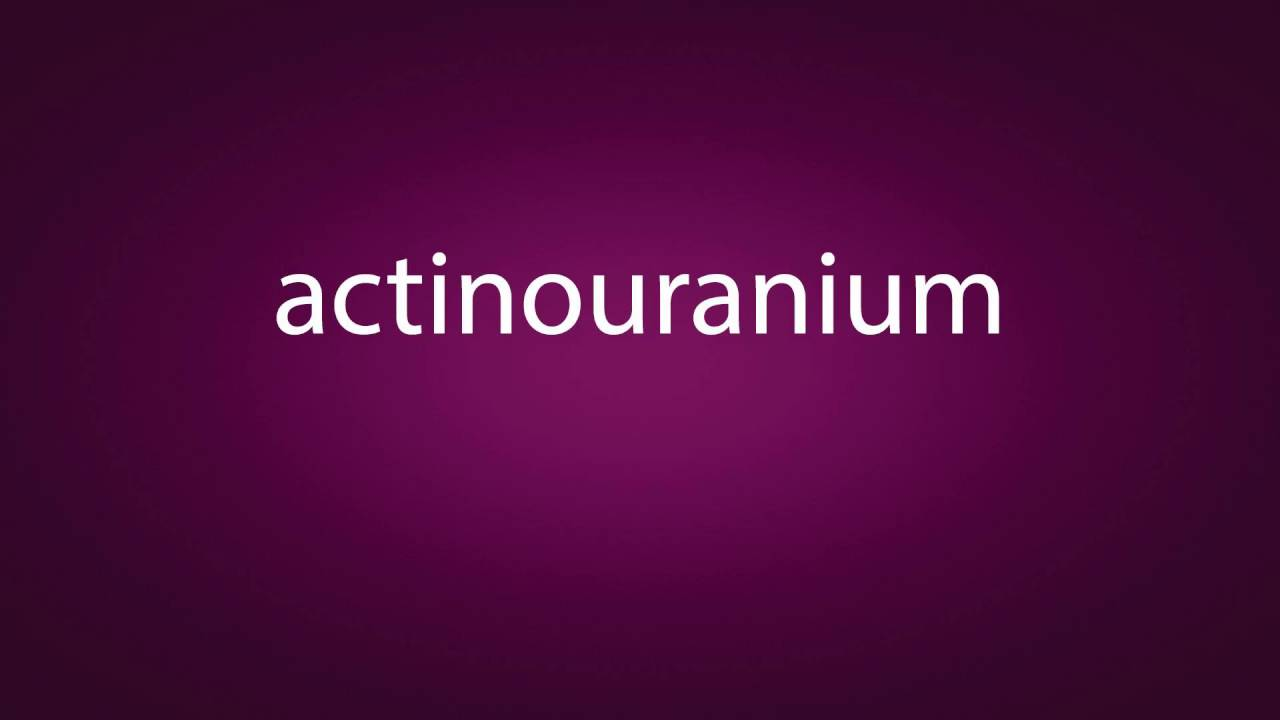 actinouranium