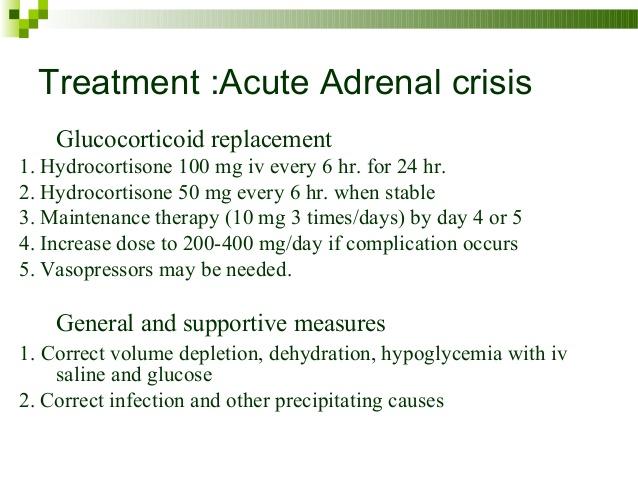 acute adrenocortical insufficiency
