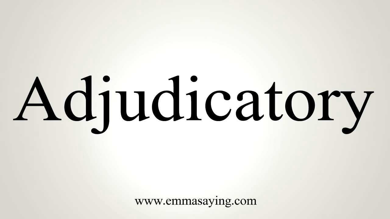 adjudicatory